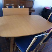 Tisch und 5 Stühle