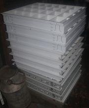 11x Rasterleuchte Büro- Praxisleuchte Neonröhren-Deckenleuchte