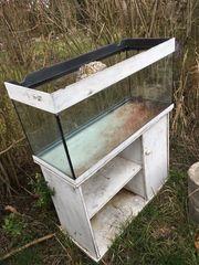 Glasterrarium Aquarium mit Unterschrank