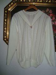 Vintage Pullover mit Schmuckbrosche- Gr