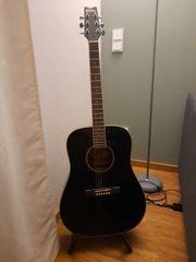 Gitarre Folk Washburn Schwarz
