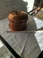 Kupfertopf mit Deckel