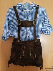 Kurze Trachtenlederhose Damen Kinder Trachtenhemd