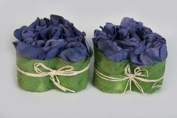 Rosenherz Flowerbox Blumenbox Kunstrosen Dekorosen