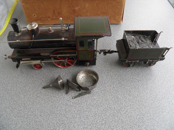 Sehr alte Bing Dampflokomotive Spiritus