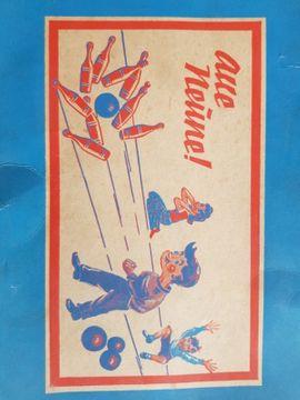 Holzspielzeug - Historisches Holz Kegelspiel