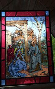 Glas-Fensterbild in einwandfreiem Zustand