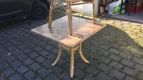 Tische Stühle Bistrotische Outdoor Terrasse Gastronomie Möbel