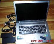 Lenovo-Laptop Ideapad Z710 mit 2 Netzteilen