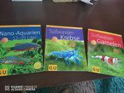 Diverse Aquaristikbücher über Zucht Design