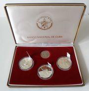 Kuba Set 3 Silbermünzen Ernest