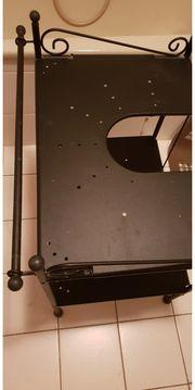 2 Metall Waschbeckenunterschränke schw