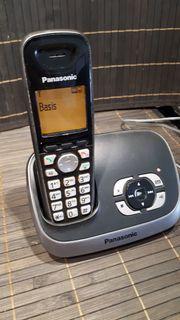 Panasonic-Schnurlostelefon mit Anrufbeantworter-schwarz KX-TG6521GB