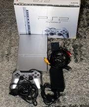Playstation 2 Silver OVP SNr