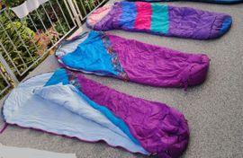 Campingartikel - 3 Schlafsäcke Hütte Camping Mumienform