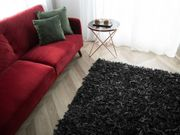 Teppich schwarz 200 x 200