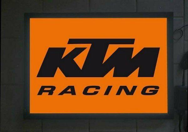 KTM Schild mit Licht Reklame