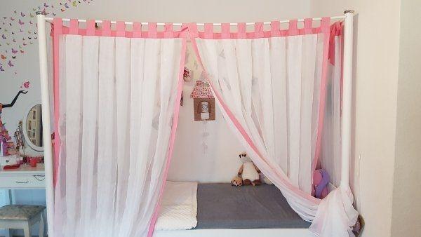 Weiß Bett Himmelbett Prinzessinbett