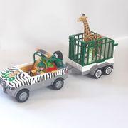 Zoo Fahrzeug mit Anhänger von