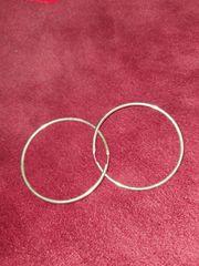 Silber Creolen Ohrringe paar Durchmesser