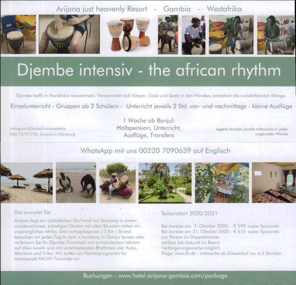 Djembe intensiv Workshop get the