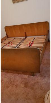 Doppelbett Mid century Original 60er