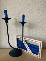 alter Kerzenhalter 4 neue Kerzen