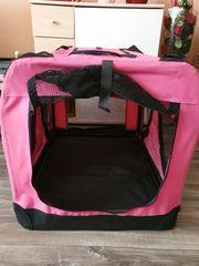 Pinke Hundebox