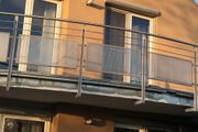 Balkongeländer - Geländer französischer Balkon - Stahl - grau