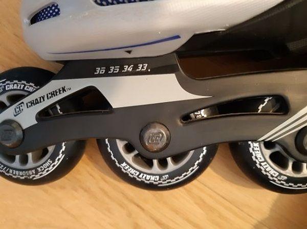 Rollerblades mit Protection-Set