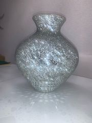 Vase in silber