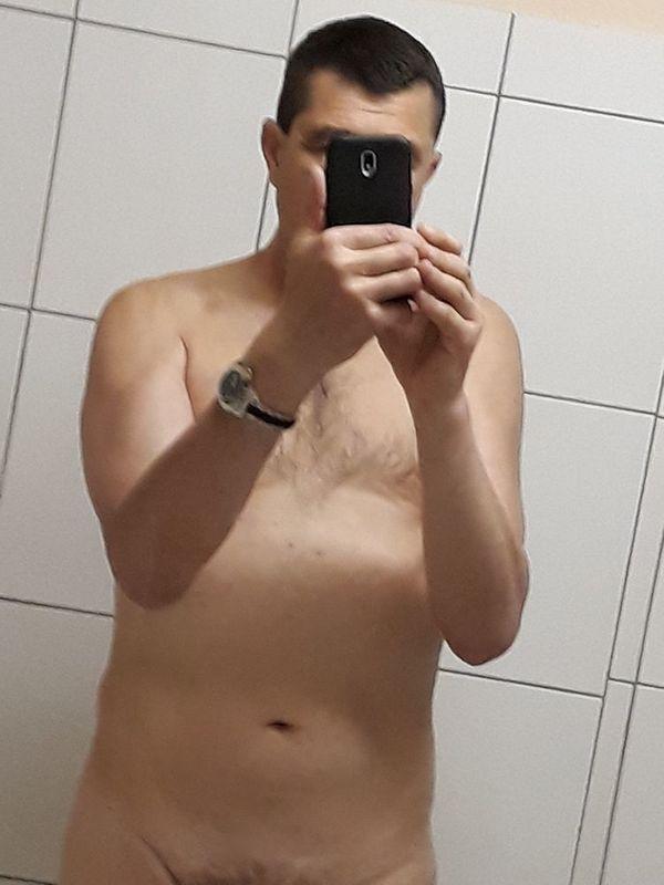 Nacktputzer bietet seine Dienste