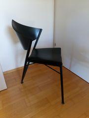 Holz-Metall Sessel schwarz