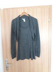 Damen Longshirt Kleid grau Bonprix