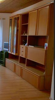 Wohnzimmer-Schrankwand Buche furniert
