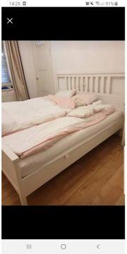 Hemnes Bett weiss lackiert mit