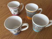 LINVOSGES 4 Kaffeetassen Kaffeebecher 8