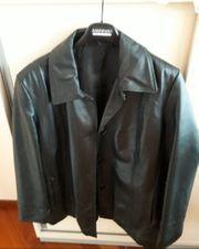 schwarze Lederjacke Gr 44