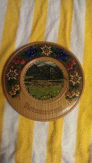Antiker Deutscher Holzteller zu verkaufen