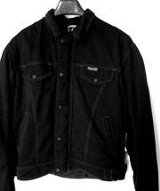 Gut erhaltene Herren-Motorrad-Textil-Jacke schwarz Gr