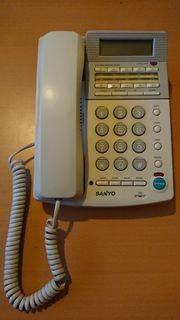 Telefon Netztelefon Sanyo LCD Anzeige