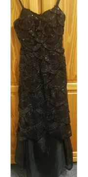 wunderschönes Pailetten-Spitzen-Kleid gr 36-38