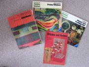 Hobbybücher zum Thema Weben etc