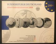 6 x 10 Euro Silber-Münzen-Set