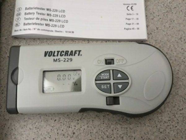 Batterietester Voltcraft Digital
