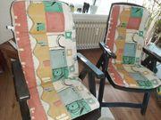 2 Klappgartenstühle mit 2 Auflagen