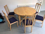 Tisch mit 6 Stühlen Vollholz