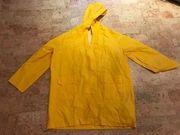 Regenjacke Regenponcho Herren in Gelb