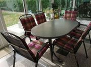 Komplet Garten Terrasse 6 Sessel