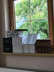 Div Aufbewahrungsboxen aus Karton Stroh